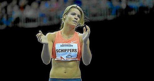 Dafne Schippers, tras su exhibición en Berlín.