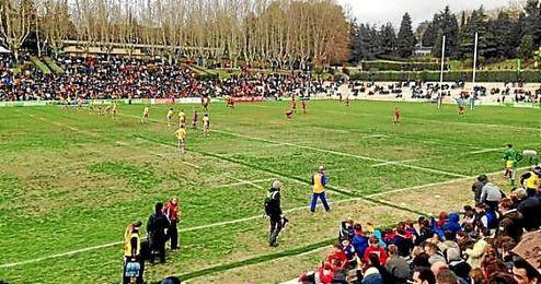 Imagen del partido entre Espa�a y Ruman�a.