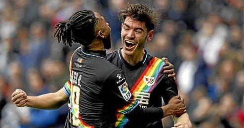 Jozabed celebra uno de sus nueve goles en esta Liga.