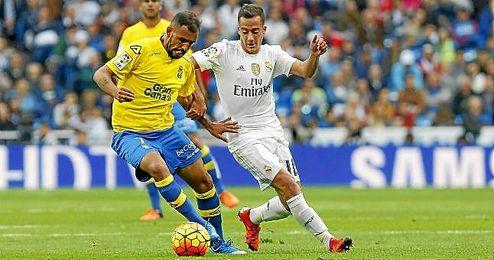 Nauzet Alemán, en el partido ante el Real Madrid.