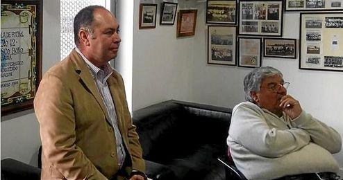 Rafael Repetto, nuevo presidente del Alcalá, junto a Antonio Gaitán, propietario de AMC FC