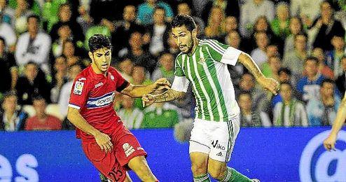 Imagen del partido disputado entre Betis y Espanyol en el Villamar�n.