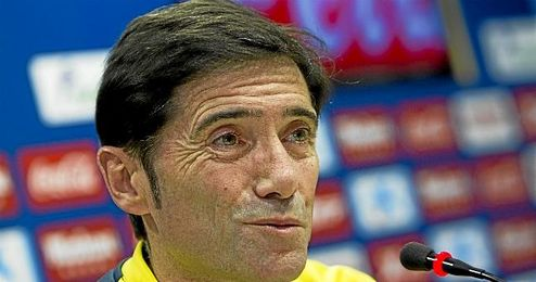 Marcelino en rueda de prensa.