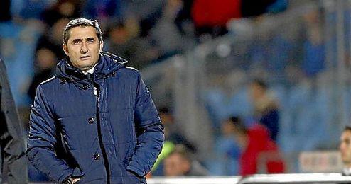 En la imagen, Ernesto Valverde durante un partido.