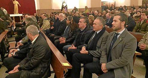 Rafael Gordillo, durante la misa en memoria de Rafael Iriondo.