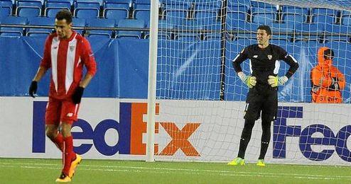 David Soria, durante el partido ante el Molde noruego.