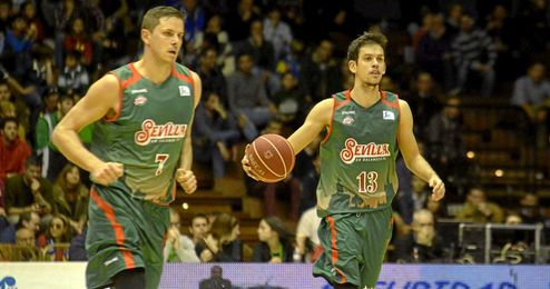 Miljenovic y Nacbar, dos pilares del CB Sevilla.