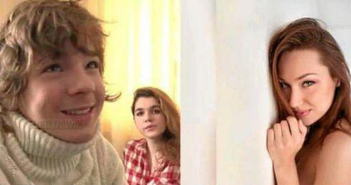 Imagen del supuesto ganador del premio y de la actriz.