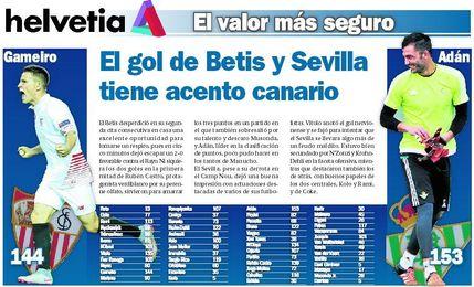 El gol de Betis y Sevilla tiene acento canario