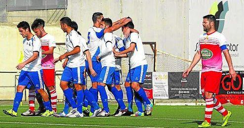 El Alcalá celebra un gol de esta temporada.