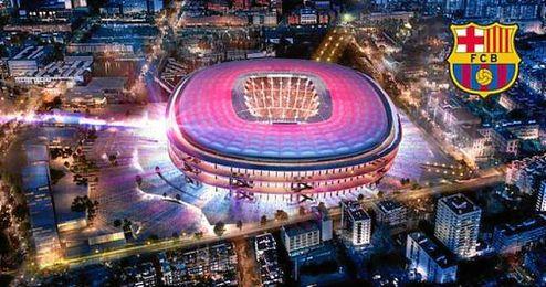 Imagen panorámica del proyecto para el nuevo estadio del FC Barcelona.