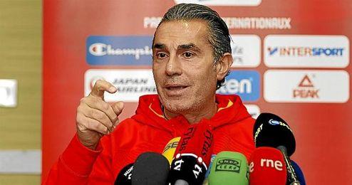 Sergio Scariolo, en rueda de prensa.