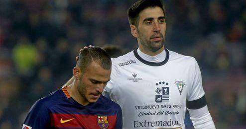 Sandro, durante el partido de Copa del Rey frente al Villanovense.