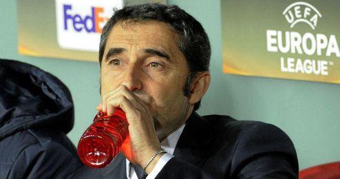 """Ernesto Valverde podr� contar con Aduriz pese a que sigue """"con molestias""""."""