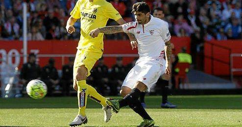 Banega cumplió ayer su partido número 30 con el Sevilla.