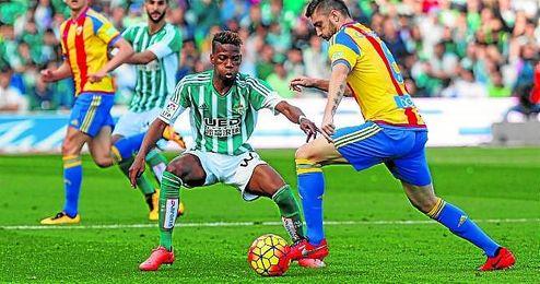 Musonda, en su debut con el Betis ante el Valencia.