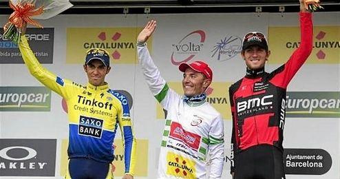 Imagen del podio de una edici�n anterior de la Volta a Catalunya.
