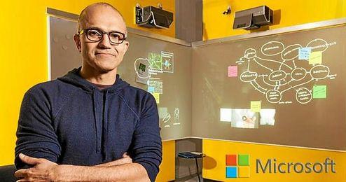 En la imagen, el CEO de Microsoft, Satya Nadella.