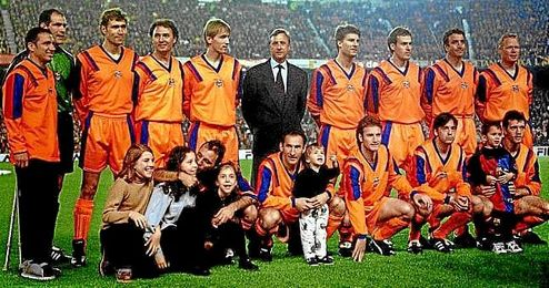 Johan Cruyff, con el ´Dream Team´.