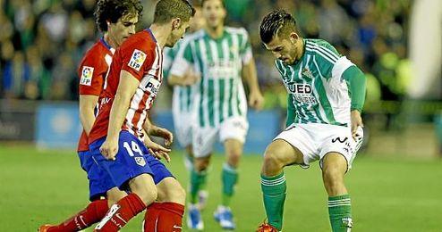 Imagen del partido de la primera vuelta entre el Betis y el Atl�tico.