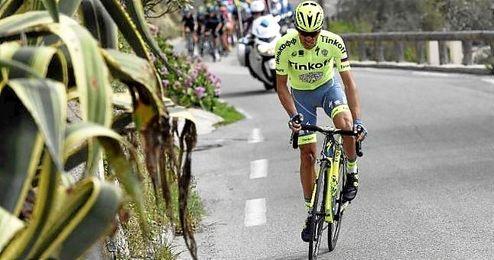 En la imagen, el ciclista espa�ol de Tinkoff, Alberto Contador.