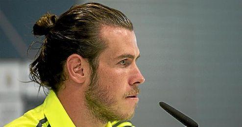Bale, en rueda de prensa.