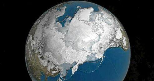 El Ártico alcanzó una extensión del hielo marino de 14,52 millones de kilómetros cuadrados.