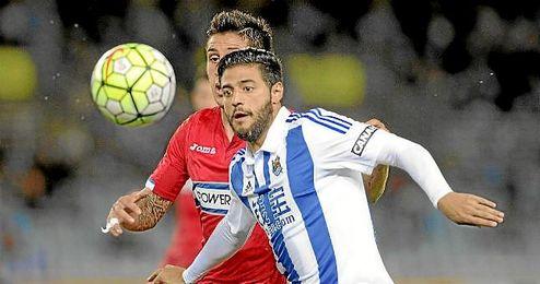 Carlos Vela, en un partido con la Real Sociedad.