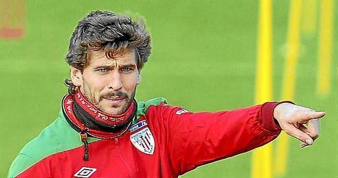 El delantero del Sevilla FC Fernando Llorente, en su etapa en el Athletic de Bilbao.