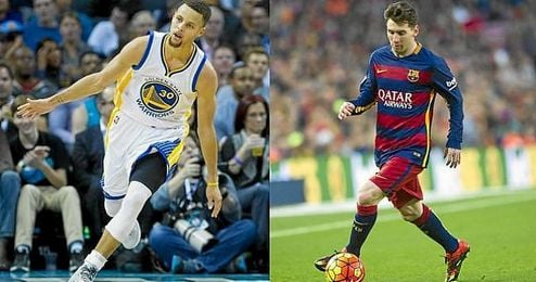 Stephen Curry y Leo Messi, dos referentes del baloncesto y del f�tbol.