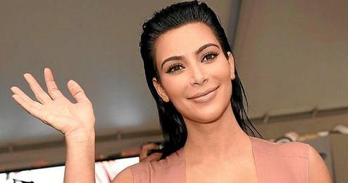 En la imagen, la modelo americana Kim Kardashian.