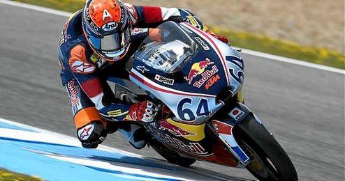 Brad Binder será el que salga desde la primera posición mañana en la carrera de Moto3.