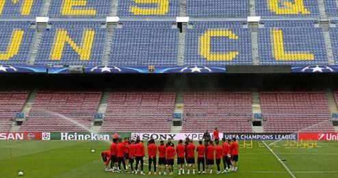 En la imagen, entrenamiento del Atlético de Madrid.