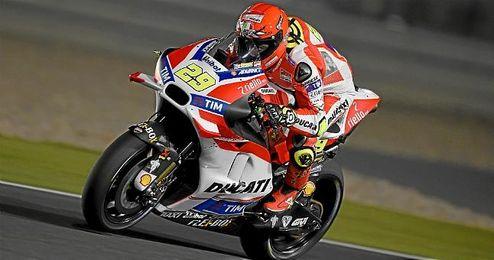 Iannone durante el GP