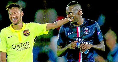 Neymar y Matuidi, en el PSG-Barcelona