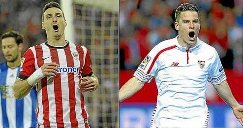 Aduriz y Gameiro, dos de los delanteros más en forma de la Europa League.