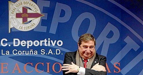 En la imagen, Lendoiro cuando a�n era Presidente del Deportivo.