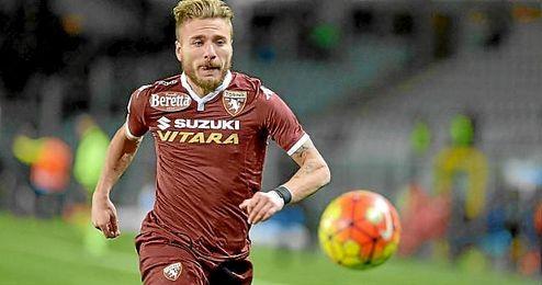 Immobile, en un partido con el Torino.