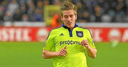 Praet, en un partido de Europa League con el Anderlecht.