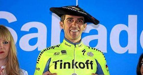 Contador venció en la crono y en la general.