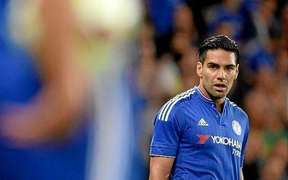 Falcao regres� a los terrenos de juego con el Chelsea.
