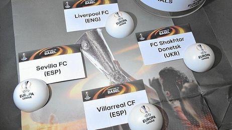 Sorteo de las semifinales de la Europa League.