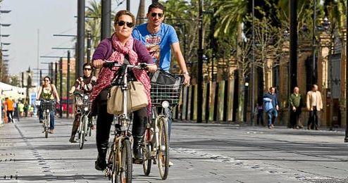 La capital cuenta con más de 160 kms de carril bici.