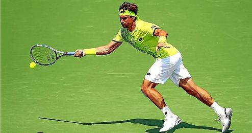 David Ferrer durante el Miami Open