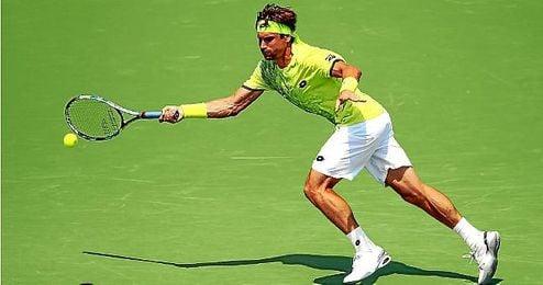 David Ferrer durante el Miami Open