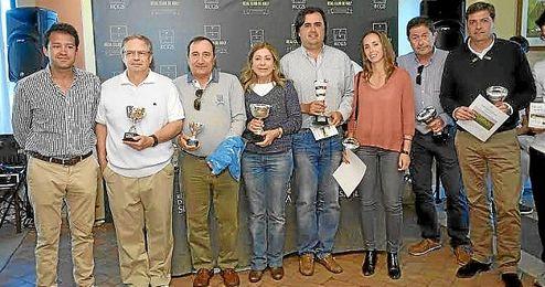 Los premiados del torneo