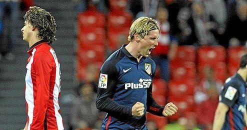 Fernando Torres celebra el difícil triunfo.