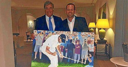 Pereira y García con el cuadro