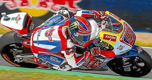 Sam Lowes, durante el Gran Premio de Espa�a.
