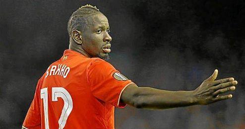Shako, durante un partido con el Liverpool.